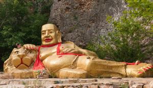 Bingyu Valley Liaoning China Reclining Buddha 01