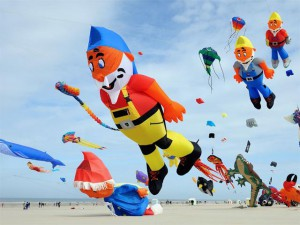 Cartoon kites