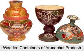 2 Wooden Containers of Arunachal Pradesh