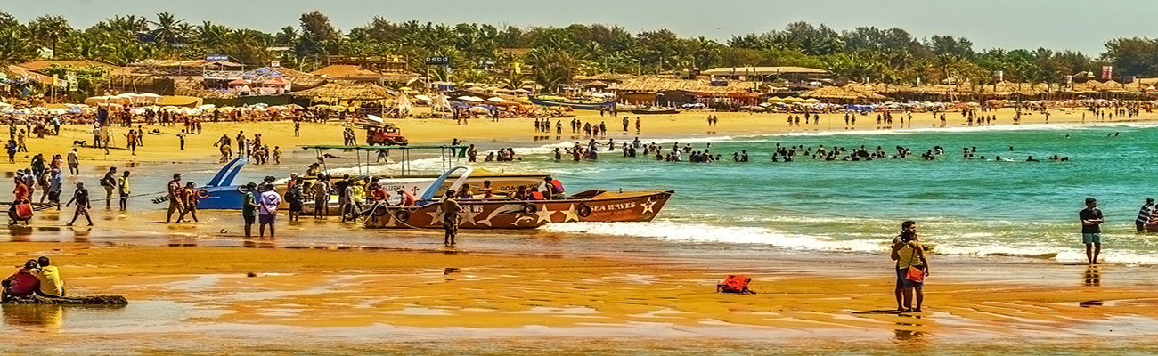 5 Baga Beach in Goa - lot's of beach activites