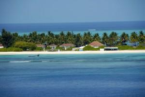 A beach side resort at Kadmat Island Lakshadweep