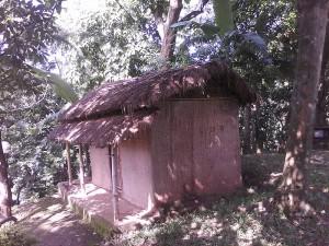 A hut inside inside Srimanta Sankardev Kalakhetra