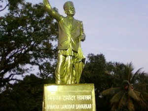 A statue of Vinayak Damodar Savarkar