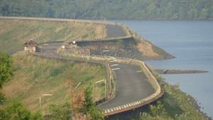 Aerial view of Salaulim Dam Goa