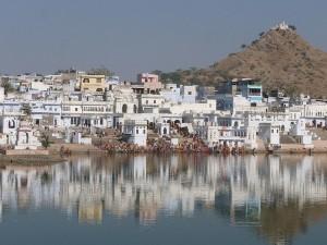Bathing Ghats on Pushkar Lake Rajasthan