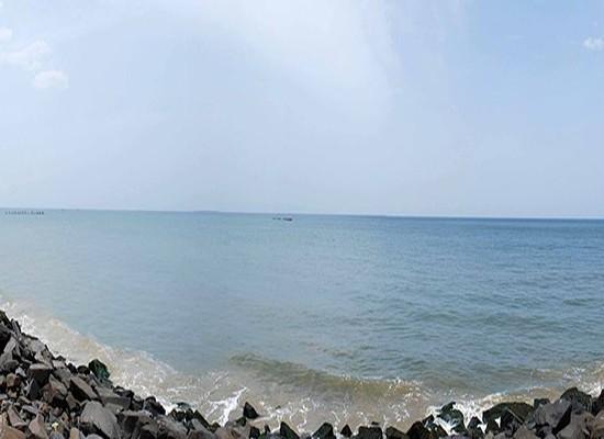 Beach Promenade at Pondicherry panorama