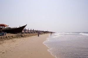 Boats on the Calangute beach Goa