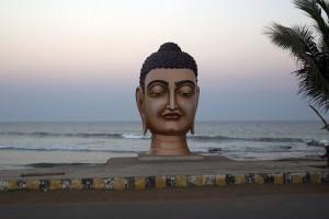 Buddha Statue at Bheemili beach Road