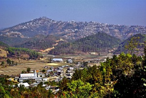 Champhai Mizoram from south with Zotlang in the foreground