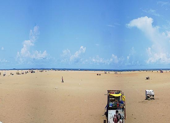 Chennai Marina beach panorama1
