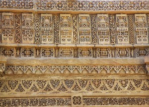 Details of stone carving at Adalaj Stepwell