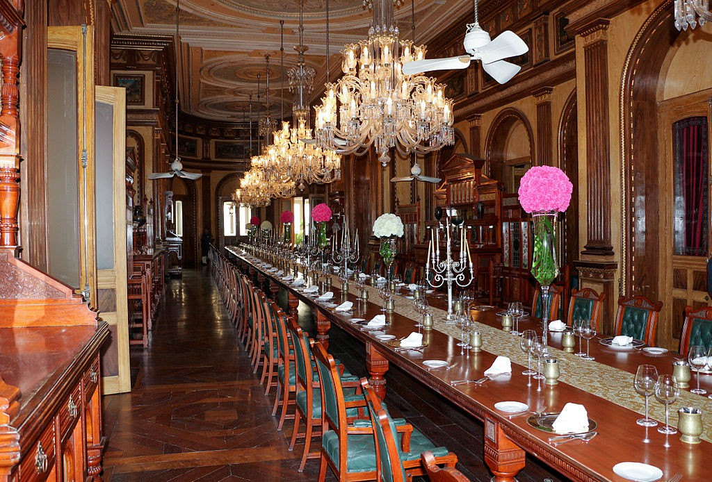 Falaknuma_Palace-Dining_table