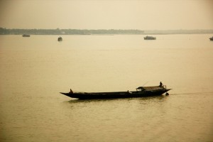 Fishing boats in Sundarbans