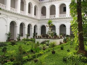 Goa Portuguese style courtyard of Basilica