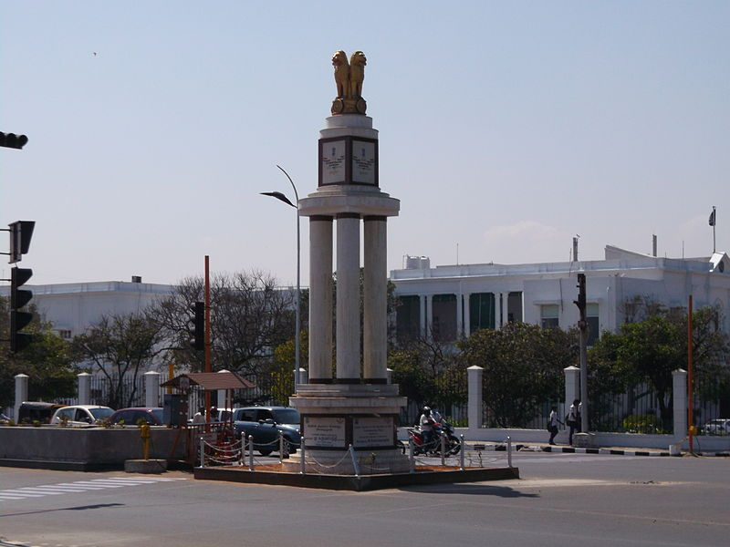 Golden_Jubilee_of_Independence_memorial_pillar,_Marina,_Chennai