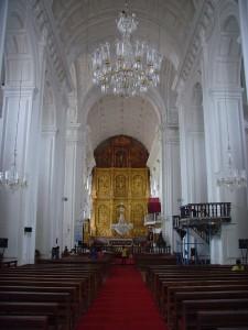 Interior of Se Cathedral Goa