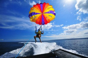 Iririki Island parasailing