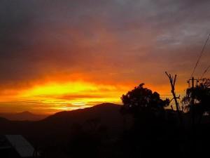 Jampui sunset