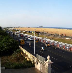 Kamarajar Salai and Marina Beach