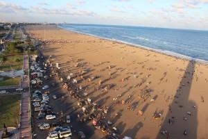 Marina Beach as seen from Light house.