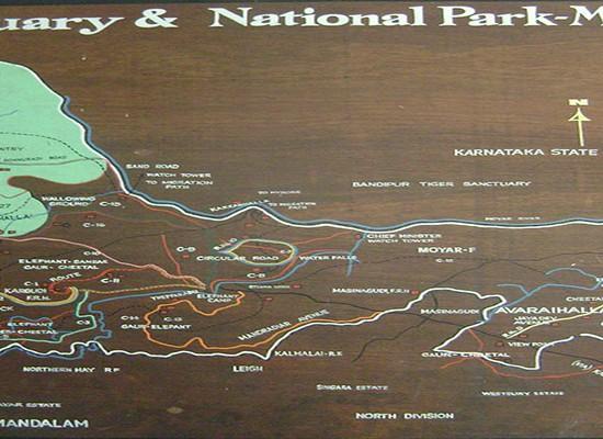 Mudumalai Map