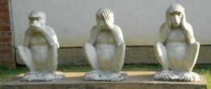 Three monkey at Sabarmati Ashram
