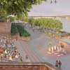 Visualisation of Gandhi Ashram Plaza in the evening web
