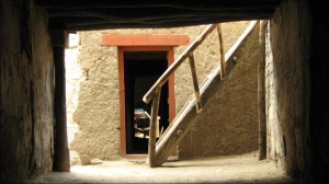 Wooden stairs Leh Palace Leh Ladakh
