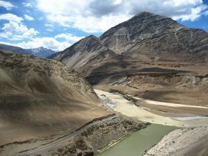 Zanskar and Indus river confluence in Ladakh