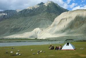 Zanskar river camping