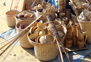 bamboo crafts meghalaya