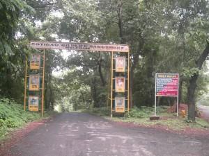 wild life sanctury main gate cotigao