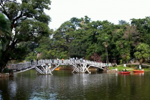 wooden bridge wards lake shillong