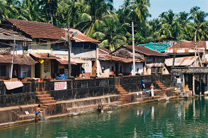 A public baths in the centre of the town Gokarna India