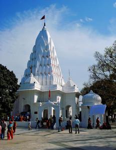 A temple in Mansa Devi temple complex Panchkula near Chandigarh