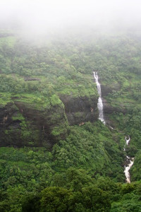 A waterfall on the way to Lonavala