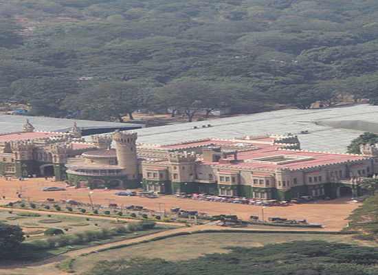 Aerial view of Bangalore Palace and Palace Grounds