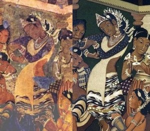 Ajanta dancing girl now and then