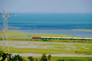 Chilika train view