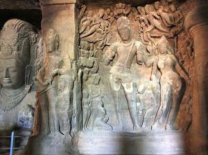 Elephanta Caves Gangadhara
