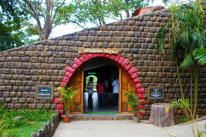 Entrance to Information Centre at Periyar Tiger Reserve