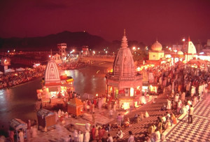 Evening view of Har ki Pauri Haridwar