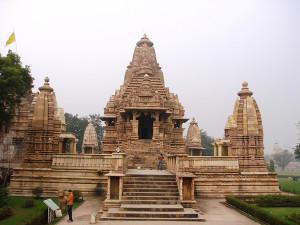 Front view of Lakshmana Temple Khajuraho