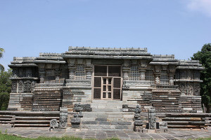 Frontal view of Kedareshwara temple at Halebidu