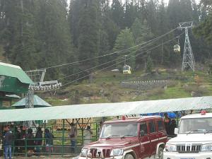 Gulmarg gondola base station