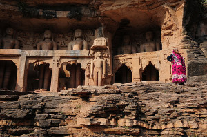 Gwalior fort palace  Rockcut Statues of Jain Thirthankaras