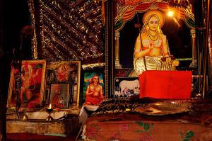 Inside Adi Shankaras Gufa at Shankaracharya Temple