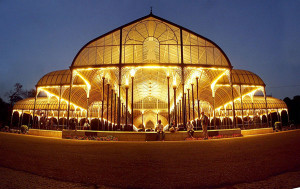 Lalbagh Glasshouse night panorama