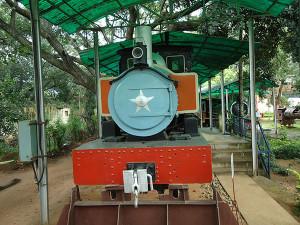 Model of train engine Mysore Rail Museum