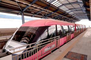 Mumbai Monorail train at platform